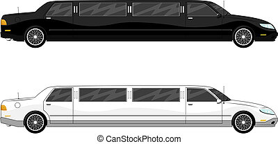 limousine - illustration of two vip limousine isolated on...
