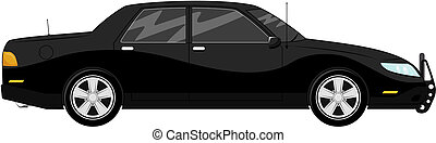 bodyguard car - illustration of black bodyguard car isolated...