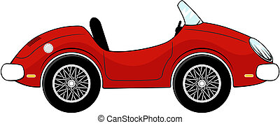 convertible car cartoon - funny red convertible car cartoon...