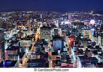 Sapporo Central Ward - Skyline of the central ward of...