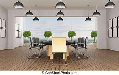 Contemporary meeting room - Meeting room in a contemporary...