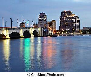 West Palm Beach Skyline - Skyline of West Palm Beach,...