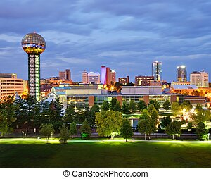 Downtown Knoxville - Skyline of downtown Knoxville,...