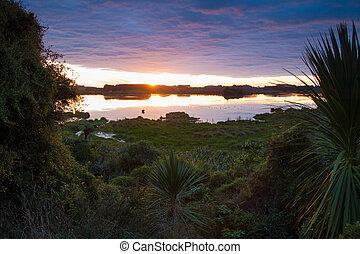 Sundown Lake Papitonga - Hidden lake Papitonga with native...