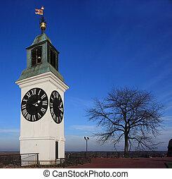novi sad - Clock tower in Vojvodina Serbia
