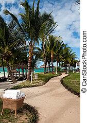 Tropical resort in Mauritius