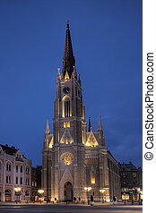 novi sad - Neogothic cathedral of the city of Novi Sad in...