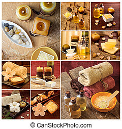 SPA photo collage - Spa theme photo collage composed of...