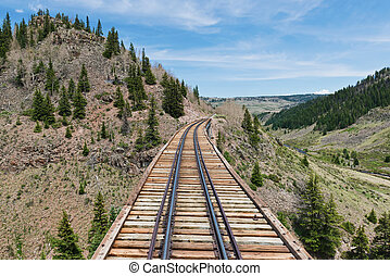 Trestle - Wooden railroad trestle in southern Colorado