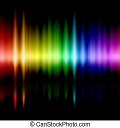 Gamma rays - colours spectrum of visible frequencies