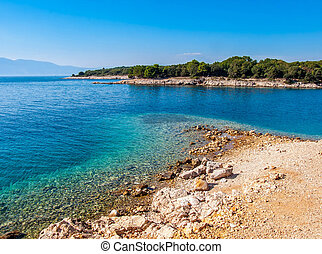 Seascape. The island of Krk in Croatia