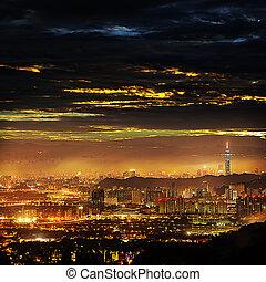 Beautiful view of Taipei city, Taiw