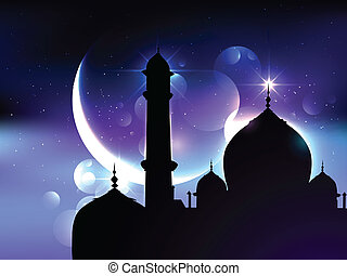 ramadan festival background - vector beautiful background of...