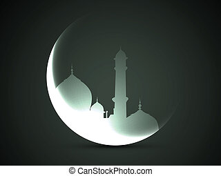moon and mosque