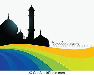 ramazan background - vector islamic ramazam kareem...