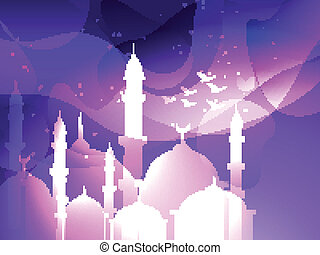 eid festival background - vector eid festival islamic...