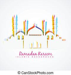 islamic festival background - colorful islamic festival...