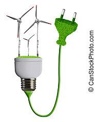 eco energy bulb isolated on white