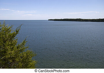 Panoramic view of Prince Edward Bay from the Sandbanks on...