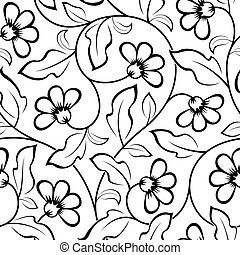abstract flowers seamless pattern - abstract flowers...