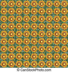 Gazania seamless composable pattern