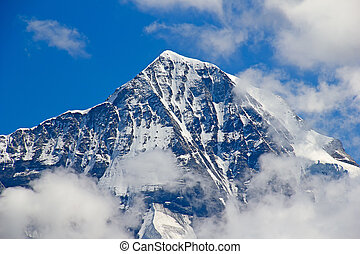 Jungfrau region - North face of Eiger mountain in the...