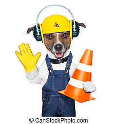建設, 狗, 在下面