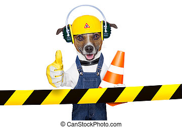 under construction dog - funny under construction dog with...