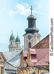 Street in Uzhgorod, Transcarpathia, Ukraine