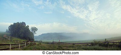 Panormaic picture of rular landscape - Panormaic picture of...