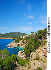 mallorca - coast line of mallorca spain