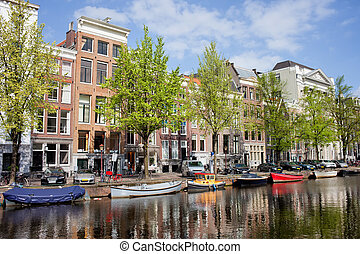 Keizersgracht Canal in Amsterdam - Keizersgracht canal...