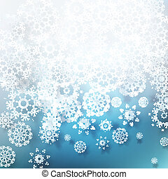 Christmas snowflakes background. EPS 10