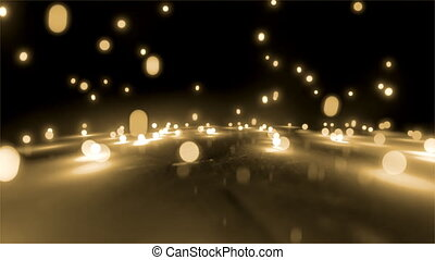 rice white light balls falling