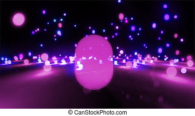 purple color tone light balls - colorful light balls...