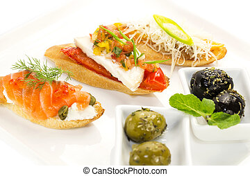 Spanish sandwiches seafood to wine and cheese vegetables