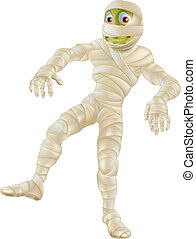 Halloween Mummy - An illustration of a cartoon Halloween...