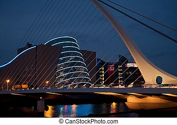 Convention Centre Dublin by night