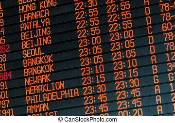 Informations about international flights on timetable - Your...