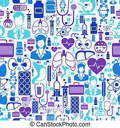 Medical and health care seamless pattern