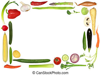 Healthy Vegetable Selection - Vegetable selection forming an...
