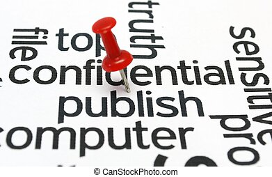 Publish - Push pin on publish text