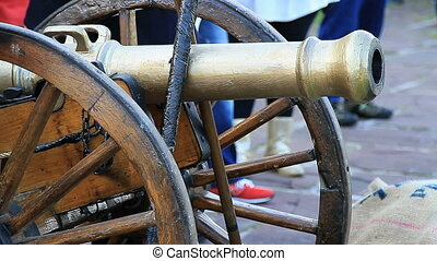 artillery cannon - Old artillery cannon