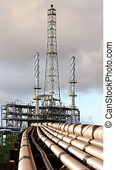 refinery pipe line  use for petrochemical industry topic