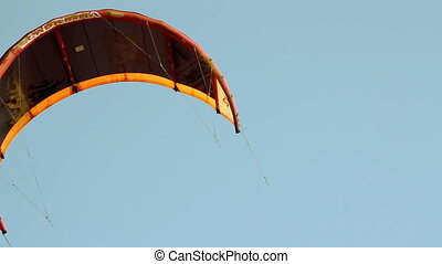 kite wing over blue sky