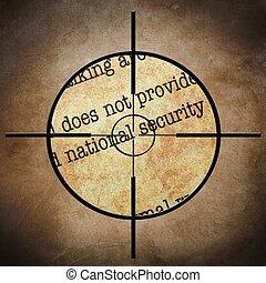 National security target