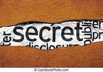 Secret concept