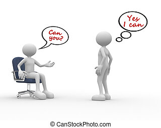 I can - 3d people - men, person talking Employee and...