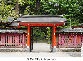 Japanese temple gate. - Typical gate at a buddhism temple