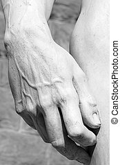 hand of famous David  by Michelangelo